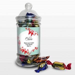 Red Ribbon Toffee Jar