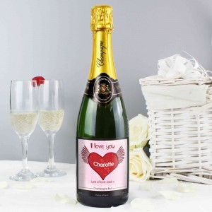 Big Heart Champagne Label