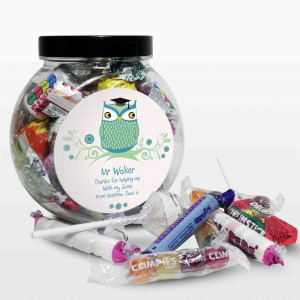 Mr Teacher Owl Sweet Jar