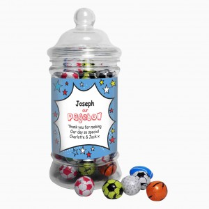 Comic Pageboy Choc Balls Jar