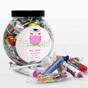 Miss Teacher Owl Sweet Jar