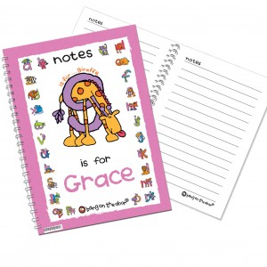 Bang On The Door Animal Alphabet Girls Notebook