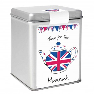 Union Jack Teapot Tea & Tin