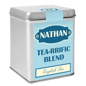 Blue Vintage Tea & Tin