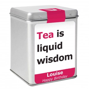 Liquid Wisdom Slogan Tea & Tin