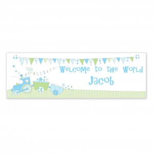 Bunting Train Banner