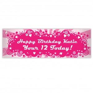 Retro Pink Banner