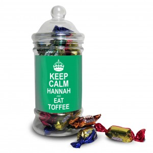 Keep Calm Toffee Jar Green