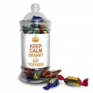 Keep Calm Toffee Jar