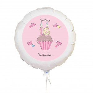 Cupcake Numbers Balloon