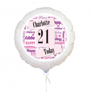 Pink Birthday Age Balloon