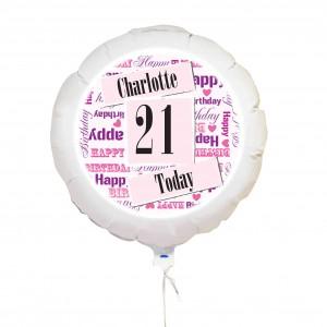 Pink Birthday Age Balloon
