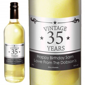 Vintage Numbers White Wine
