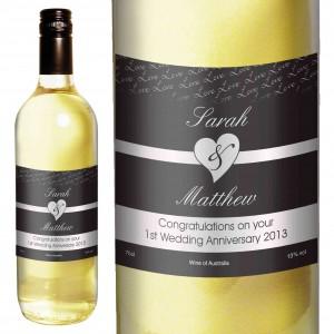 Couples White Wine- Black Design