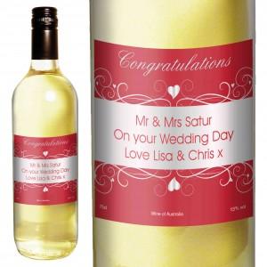 Heart Swirl White Wine
