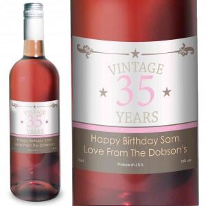 Vintage Numbers Rose Wine
