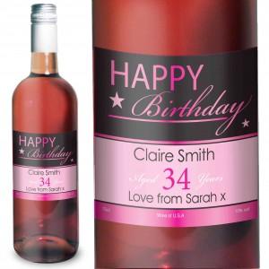 Happy Birthday Rose Wine