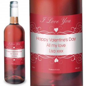 Heart Swirl Rose Wine