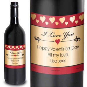 Hearts I Love You Red Wine
