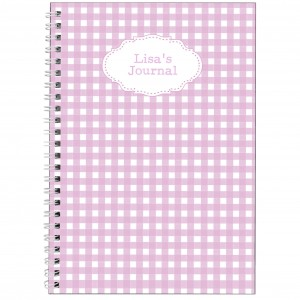 Girly Gingham A5 Notebook