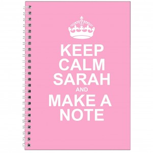 Keep Calm Pink A5 Notebook
