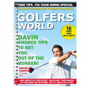 Golfers World A5 Notebook
