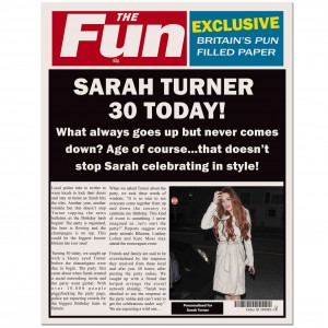 THE FUN Birthday Spoof Newspaper