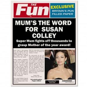 THE FUN Mum Spoof Newspaper