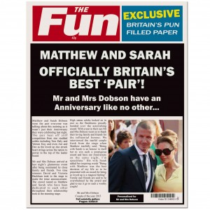 THE FUN Anniversary Spoof Newspaper