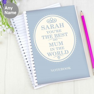 The Best in the World A5 Notebook