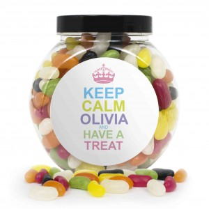 Keep Calm Jelly Beans Sweet Jar