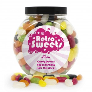 Retro Pink Jelly Beans Sweet Jar