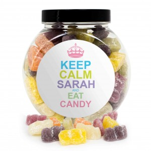Keep Calm Jelly Babies Sweet Jar