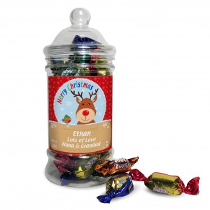 Rudolph Toffee Jar