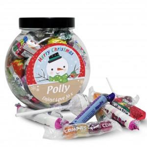 Snowman Sweet Jar