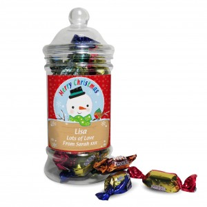 Snowman Toffee Jar