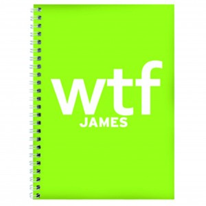 WTF Slogan A5 Notebook