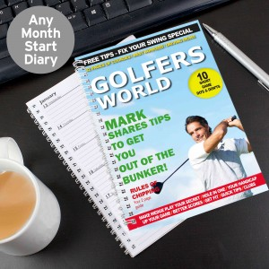 Golfers World A5 Diary