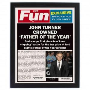 The Fun Spoof Newspaper Dad Framed Print