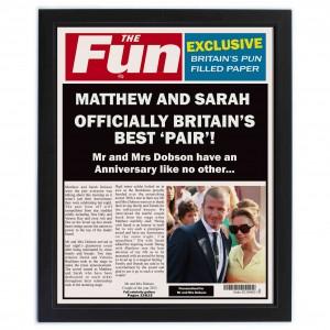 The Fun Spoof Newspaper Anniversary Framed Print