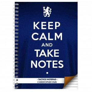 Chelsea Keep Calm A4 Notebook