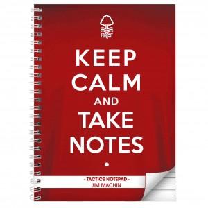 Nottingham Forest Keep Calm A4 Notebook