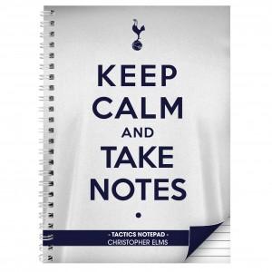 Tottenham Hotspur Keep Calm A4 Notebook