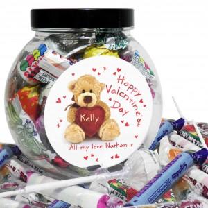 Teddy Heart Sweet Jar