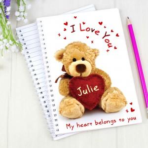 Teddy Heart A5 Notebook