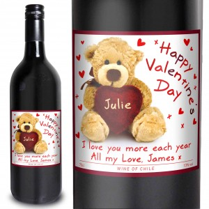 Teddy Heart Red Wine