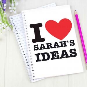 I HEART A5 Notebook