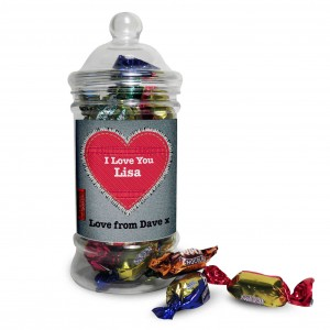 Denim Toffees Jar