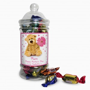 Teddy Flower Toffee Jar