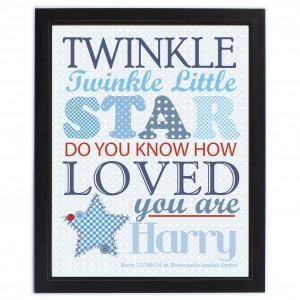 Twinkle Boys Poster Frame